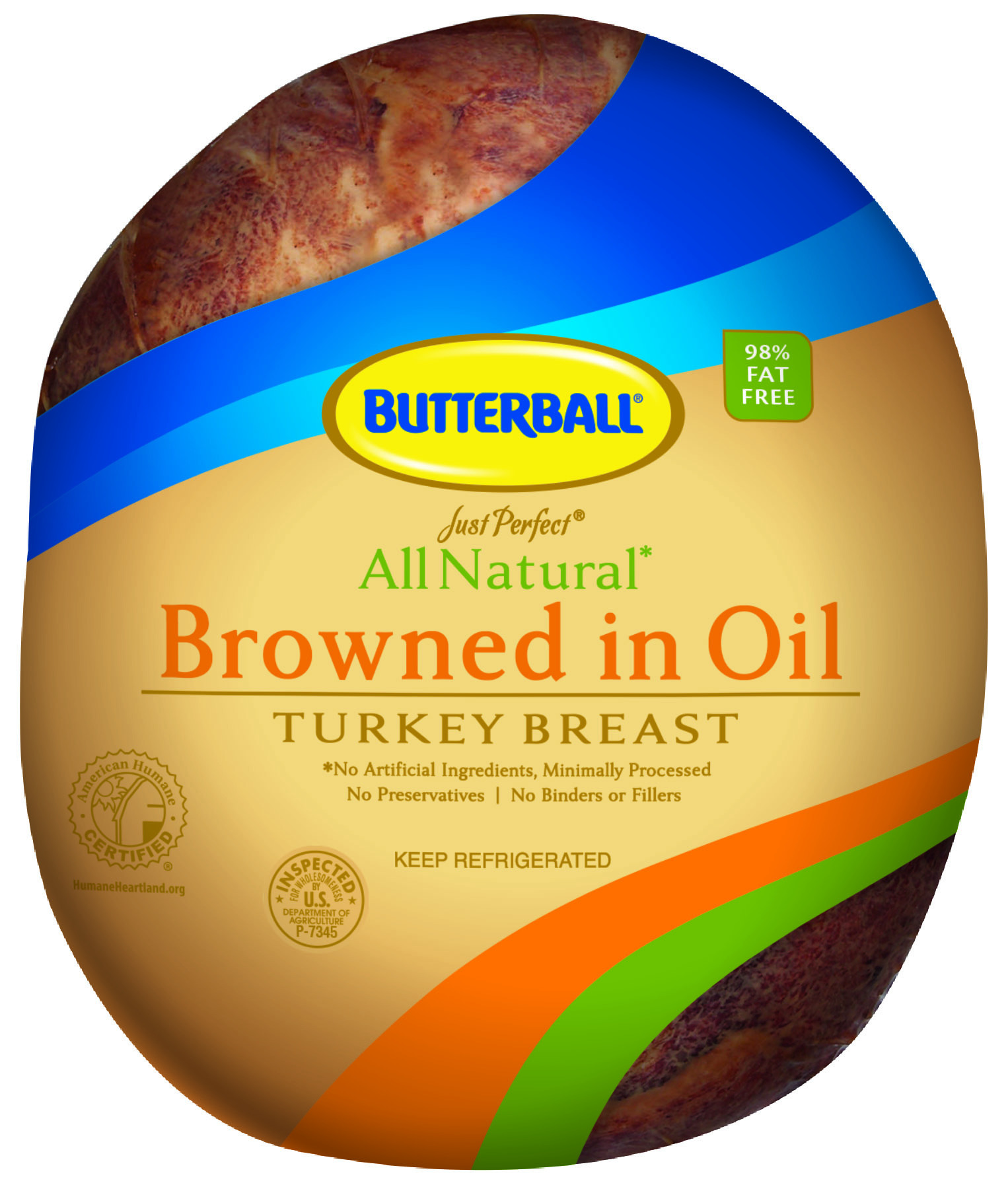 Just Perfect Handcrafted All Natural Oil Browned Turkey Breast