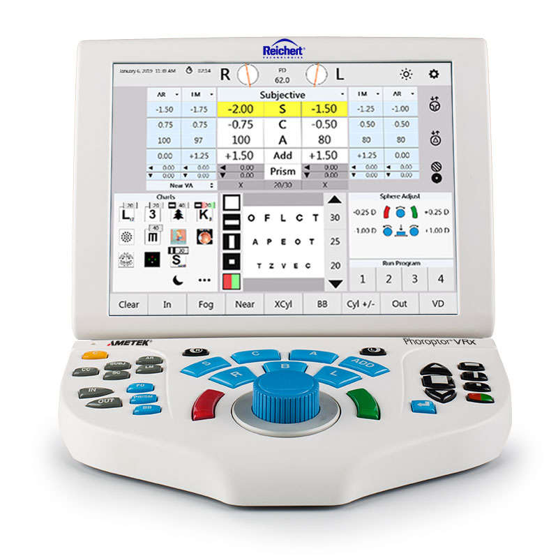 Phoroptor VRx Digital Refraction System - controller - front UI