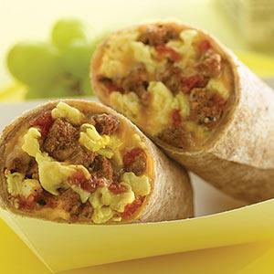 Chorizo Turkey Breakfast Burrito