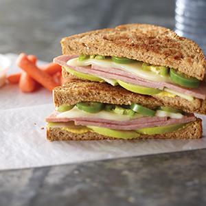 Ham, Apple and Swiss Panini Sandwich